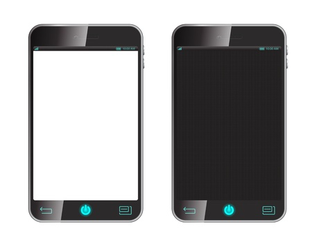 smart phone isolaed on white Stock Vector - 20732110