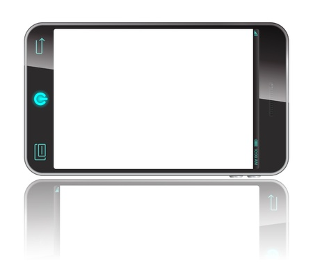 white, smart phone isolaed on white Vector