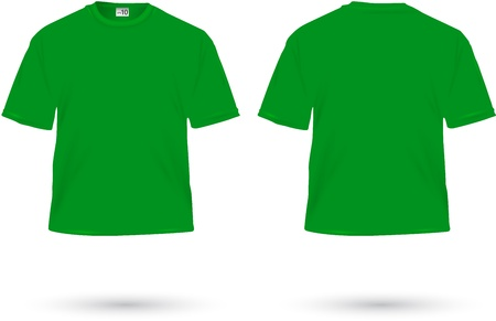 green t-shirt illustration on white Stock Vector - 20831551
