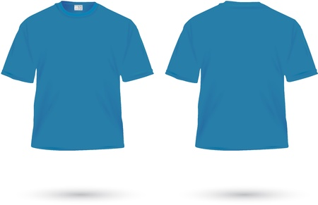blue t-shirt illustration on white  Vector