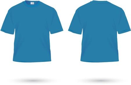 shirt template: blue t-shirt illustration on white