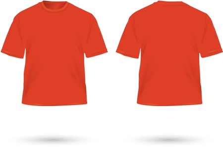 t shirts: Red T Shirts, Vector, Illustration