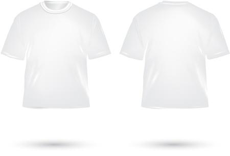 black t shirt: white T shirt on white background