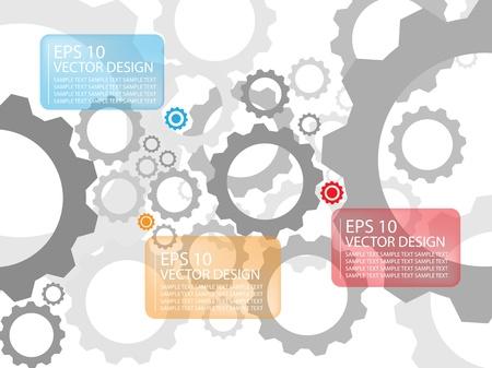 konzepte: abstrakte Farb-Getriebe Illustration Hintergrund