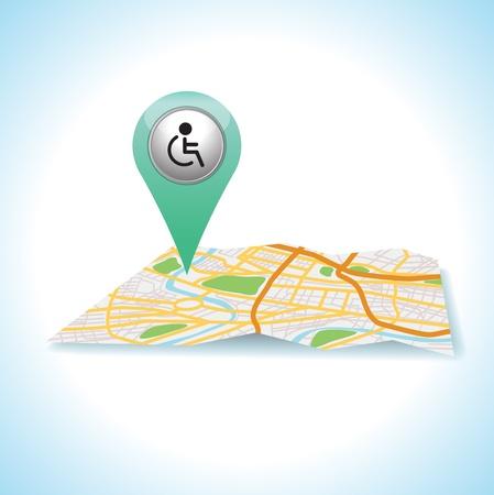 핸디캡: 장애인 아이콘 포인터 기호 벡터
