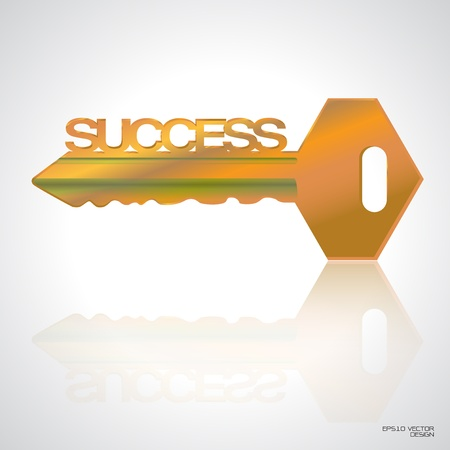 key to success: golden Key to success vector
