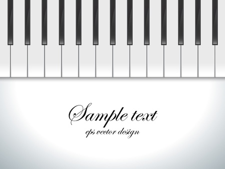 Piano keys viewed, vector background  Illustration