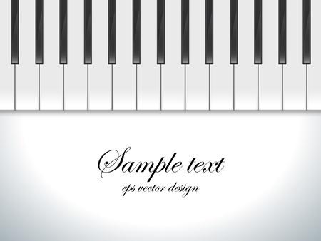 Pianotoetsen bekeken, vector achtergrond