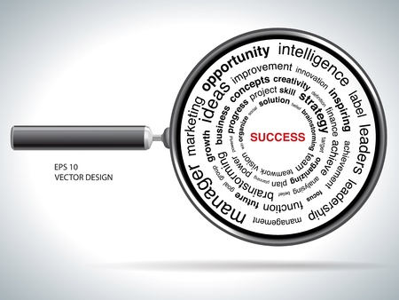 Looking for success  vector illustration  Vector