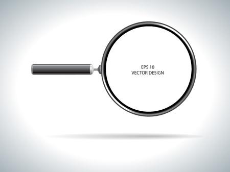 magnifying glass on white background   Illustration