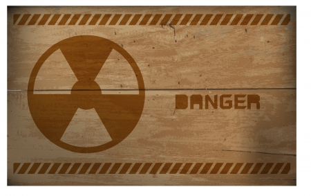 sign of radiation on wooden, vector design Stock Vector - 20832250