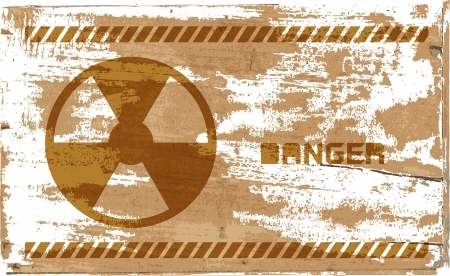 chernobyl:  sign of radiation on wooden, vector design