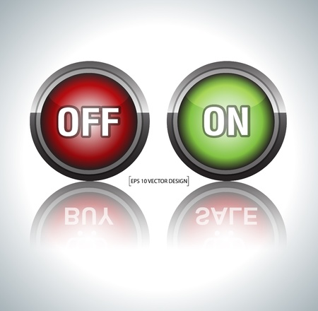 On off buttons vector illustration  Vector