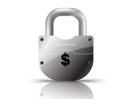 key in chain:  US dollar currency concept  illustration Illustration