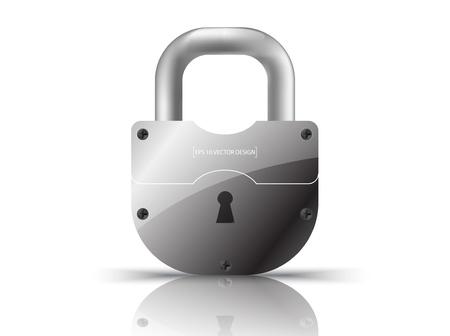 pad lock:  Vector Padlock Icon  on white
