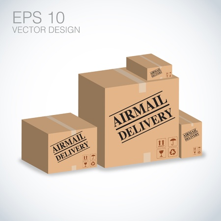 airmail boxes vector illustration Stock Vector - 20832273
