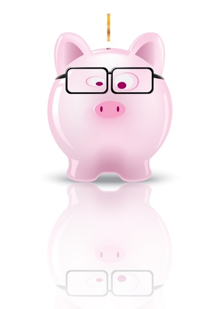 Piggy bank  Vector illustration design   Vector