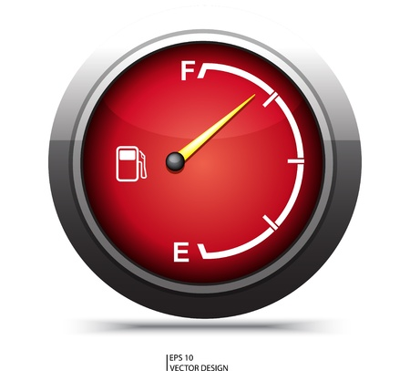 gage: red gas gage on white background