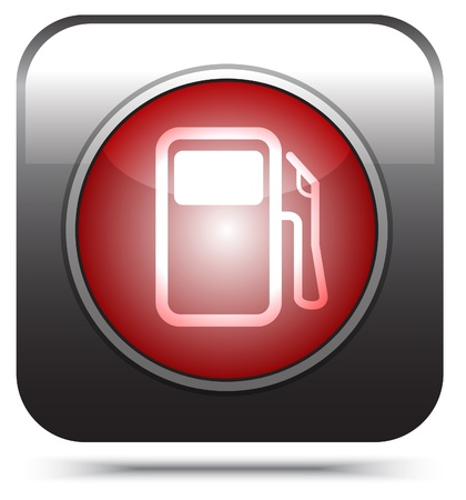 empty tank: red pump icon on white   Illustration
