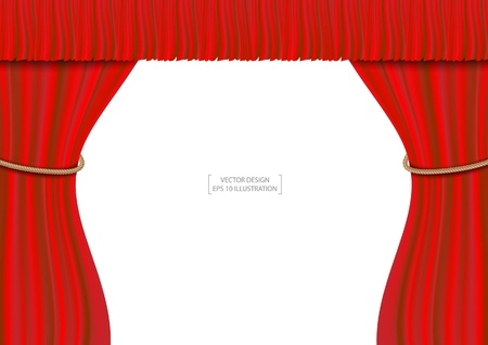 Red theater curtain vector illustration  Stock Vector - 20832563