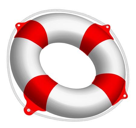 swimming belt:  Vector illustration of Life Buoy    Illustration