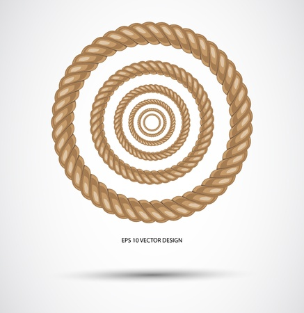 cotton plant:  Circle rope illustration vector   Illustration