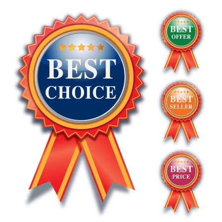 best choice label, vector design   Vector