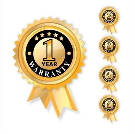 zufriedenheitsgarantie: Satz von Jahr Garantie Illustration