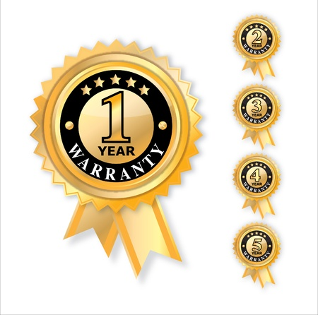 1 year warranty: set of year warranty illustration Illustration
