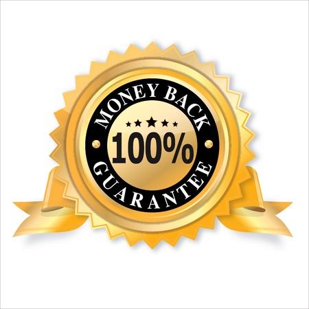 Money back label  vector illustration