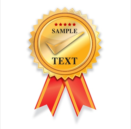 badge ribbon: empty Golden label vector design