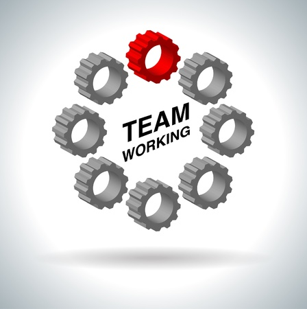 icon team work sign on white   Vector