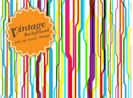 star retro vintage label on colorful background  Vector