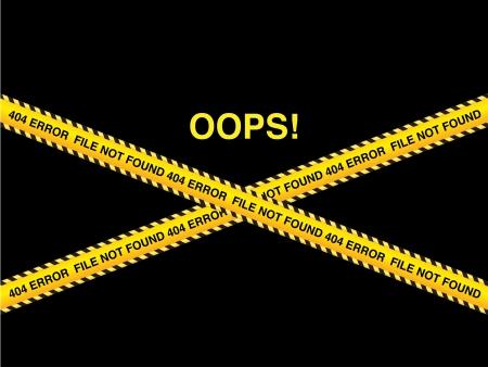 oops: 404 error, file not found. illustration vector Illustration