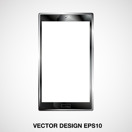 smart phone illustration, format   Vector