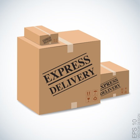 express delivery: Express delivery cardboard box