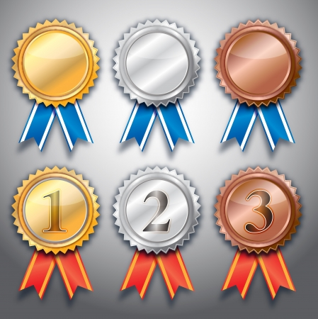 empty 3 medal vector design  Vector
