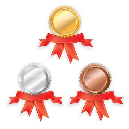 bronz: golden silver bronz label star Illustration