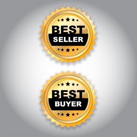 golden best seller illustration Vector