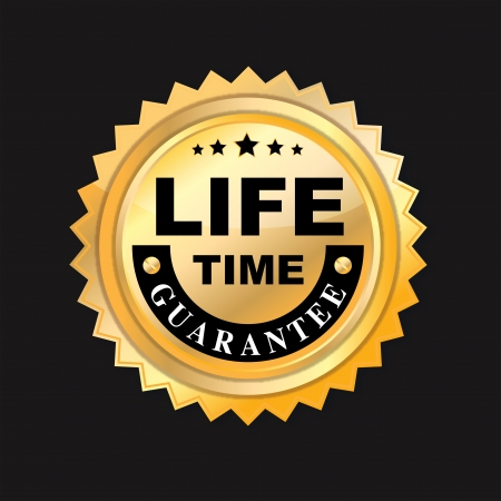 life time guarantee Stock Vector - 21189477