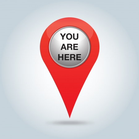 travel guide: red pointer, you are here Illustration