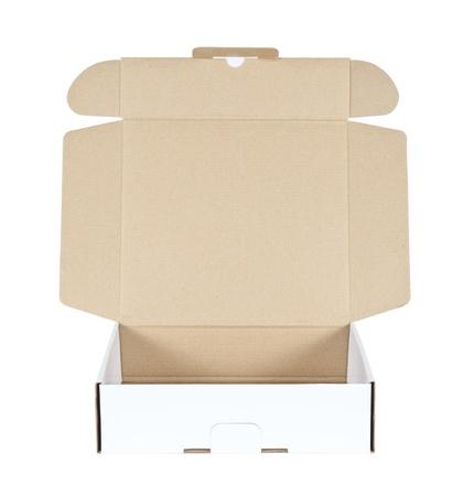 packer: card box open on white