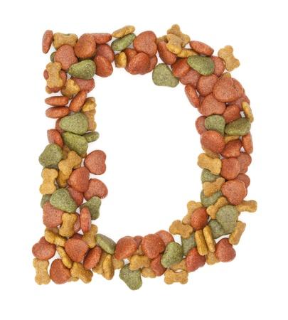 D dog food alphabet on white background Stock Photo - 21761208