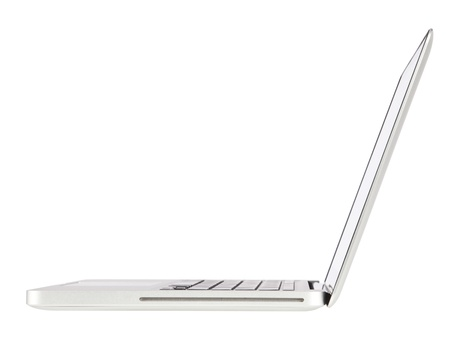 angle views: Laptop computer isolated on white (path in side)