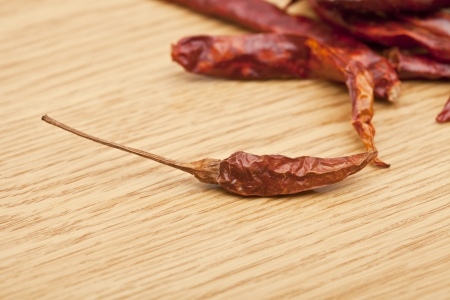 pepper flakes: close-up dried red chilies