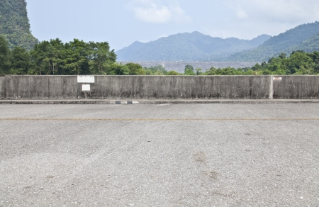 Road side mountain view background photo