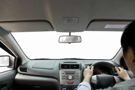 view of driving a vehicle.  photo