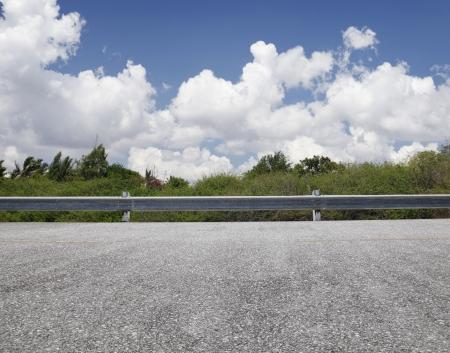 roadsides: Roadside view, blue sky Stock Photo