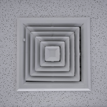 Air duct in square shape. photo
