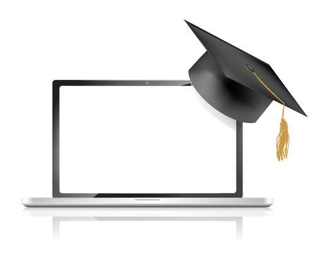 教育オンライン概念、ベクトル イラスト